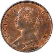 1 cent Victoria – avers
