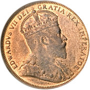 1 cent Edouard VII – avers