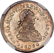 1 Real - Fernando VII (Proclamation coinage) – avers