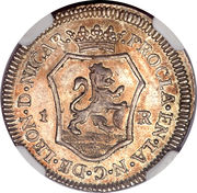 1 Real - Fernando VII (Proclamation coinage) – revers