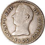 1 Real - Agustín I (Proclamation coinage) – avers