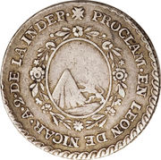 1 Real - Agustín I (Proclamation coinage) – revers
