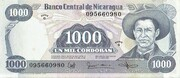 1000 Cordobas – avers