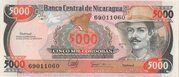 5000 Cordobas – avers