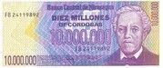 10,000,000 Cordobas – avers