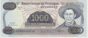 500,000 Cordobas (overprinted on 1000 Cordobas) – avers