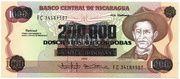 200,000 Cordobas (overprinted on 1000 Cordobas) – avers