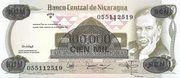 100,000 Cordobas (overprinted on 500 Cordobas) – avers