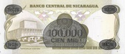 100,000 Cordobas (overprinted on 500 Cordobas) – revers
