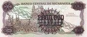 1,000,000 Cordobas (overprinted on 1,000 Cordobas) – revers