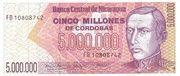 5,000,000 Cordobas – avers