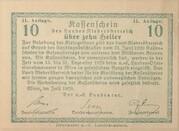 10 Heller (Niederösterreich) – revers