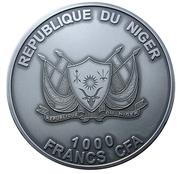 1000 francs CFA (Météorite du mont Tazerzait) – avers