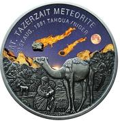 1000 francs CFA (Météorite du mont Tazerzait) – revers