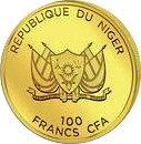 100 Francs CFA (Mecca Compass) – avers