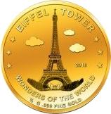 100 Francs CFA (Eiffel Tower) -  revers