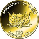 100 Francs CFA (Temple of Artemis) – avers
