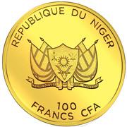 100 Francs CFA (Fierté de l'Afrique) – avers