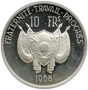 10 francs (petit module) – avers