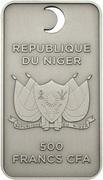 500 francs CFA (The Name of Allah) – avers