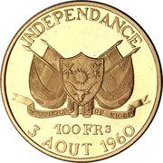 100 francs (Indépendance) – avers