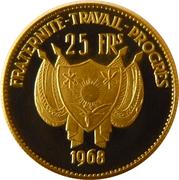 25 Francs (mouflons) – avers