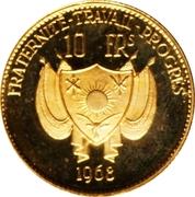 10 Francs (Autruches) – avers