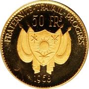 50 Francs (Lion) – avers