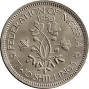 2 shillings - Elizabeth II (1ere effigie) – revers