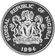 100 Naira (100 ans - Banque du Nigeria) – avers