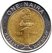 1 naira – revers