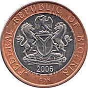 2 naira – avers