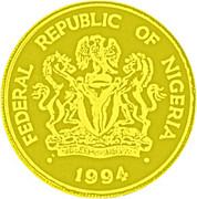 1000 Naira (100 ans - Banque du Nigeria) – avers