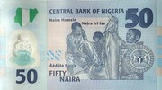 50 Naira (50th Anniversary of Independence) – revers