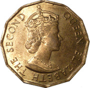 3 pence - Elizabeth II (1ere effigie) – avers
