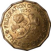 3 pence - Elizabeth II (1ere effigie) – revers