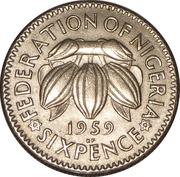 6 pence Elizabeth II – revers