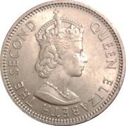 1 shilling - Elizabeth II (1ere effigie) – avers