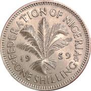 1 shilling Elizabeth II – revers