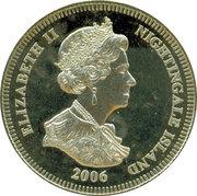 1 Crown - Elizabeth II (4th portrait; Nightingale Island; 80th Birthday) – avers