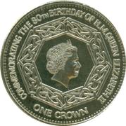 1 Crown - Elizabeth II (4th portrait; Nightingale Island; 80th Birthday) – revers