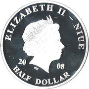 ½ dollar Elizabeth II (Visite du pape Jean Paul II) – avers