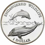 1 dollar Elizabeth II (Dolphins) – revers