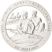 50 dollars Elizabeth II (Rowing) -  revers