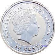 50 cents - Elizabeth II (Année du coq) – avers