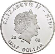 ½ dollar - Elizabeth II (Pope John Paul II in Tunisia) – avers