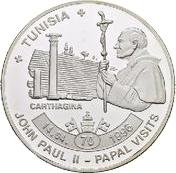 ½ dollar - Elizabeth II (Pope John Paul II in Tunisia) – revers
