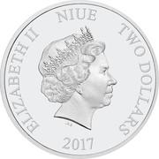2 dollars - Elizabeth II (Année du coq) -  avers