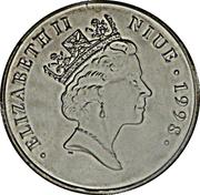 1 dollar Elizabeth II (Princess wearing headscarf) – avers