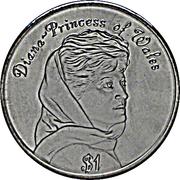 1 dollar Elizabeth II (Princess wearing headscarf) – revers